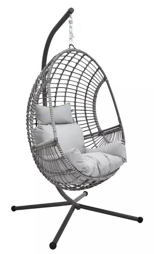 Rattan Effect Hanging Egg Chair