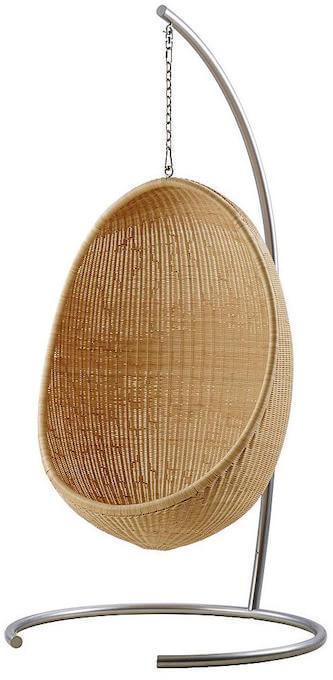 Skandium hanging egg chair